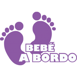 Bebé a Bordo pies